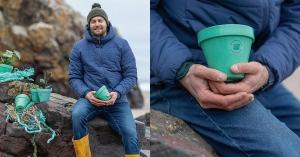 【永續設計】每天減少一點塑料量,再現海洋美景:回收漁網繩索製成的再生塑料花盆