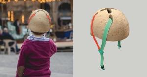 【永續設計】伴著孩子長大,在頭頂長成蘑菇帽:可持續性材料的自行車頭盔