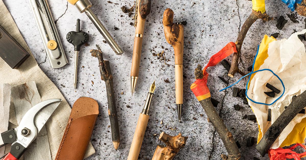 【環保選物】廢樹枝變身「超有梗」梨煙筆:保留嫁接特色,樸實又獨特的桌上風景